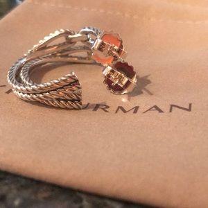 David Yurman Jewelry - David Yurman Cable Loop Hoop Earrings 18K Gold